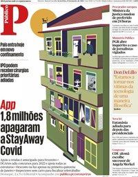 capa Público de 15 janeiro 2021