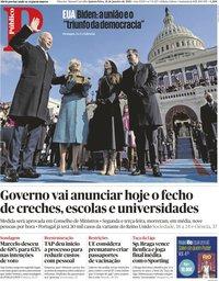 capa Público de 21 janeiro 2021
