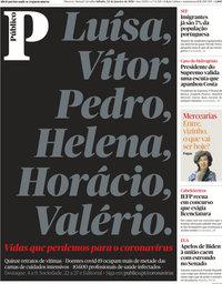 capa Público de 23 janeiro 2021
