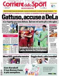 capa Corriere dello Sport de 1 fevereiro 2021
