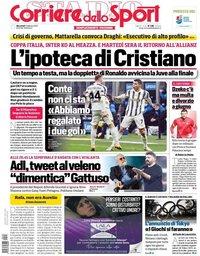 capa Corriere dello Sport de 3 fevereiro 2021