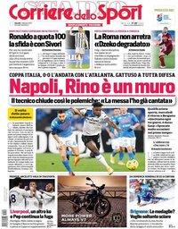 capa Corriere dello Sport de 4 fevereiro 2021