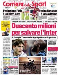 capa Corriere dello Sport de 5 fevereiro 2021