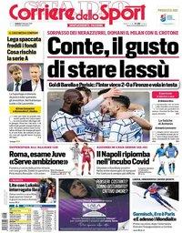 capa Corriere dello Sport de 6 fevereiro 2021
