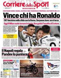 capa Corriere dello Sport de 7 fevereiro 2021