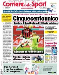 capa Corriere dello Sport de 8 fevereiro 2021