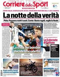capa Corriere dello Sport de 9 fevereiro 2021