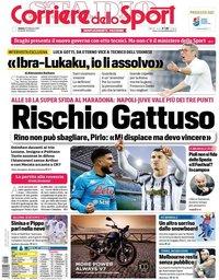capa Corriere dello Sport de 13 fevereiro 2021