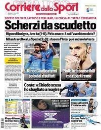 capa Corriere dello Sport de 14 fevereiro 2021