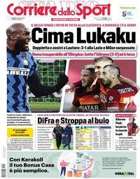 capa Corriere dello Sport de 15 fevereiro 2021