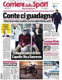 capa Corriere dello Sport de 16 fevereiro 2021