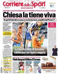 capa Corriere dello Sport de 18 fevereiro 2021