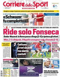 capa Corriere dello Sport de 19 fevereiro 2021