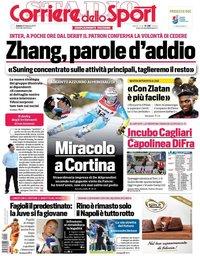 capa Corriere dello Sport de 20 fevereiro 2021
