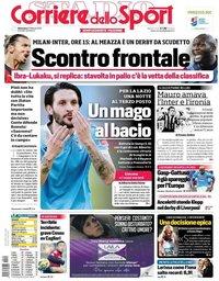 capa Corriere dello Sport de 21 fevereiro 2021