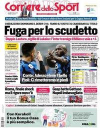 capa Corriere dello Sport de 22 fevereiro 2021