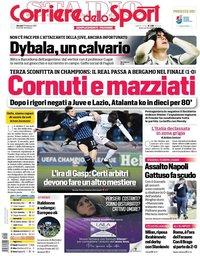 capa Corriere dello Sport de 25 fevereiro 2021