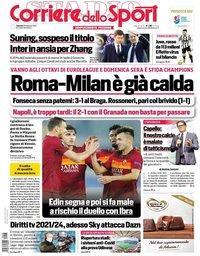capa Corriere dello Sport de 26 fevereiro 2021