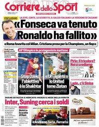 capa Corriere dello Sport de 27 fevereiro 2021