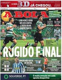 capa Jornal A Bola de 2 fevereiro 2021