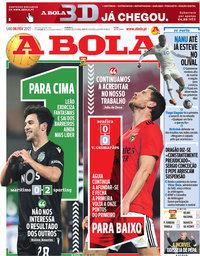 capa Jornal A Bola de 6 fevereiro 2021
