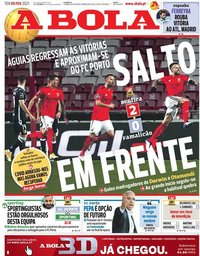 capa Jornal A Bola de 9 fevereiro 2021