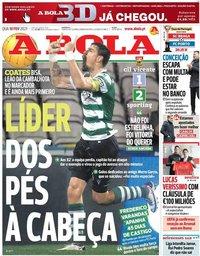 capa Jornal A Bola de 10 fevereiro 2021
