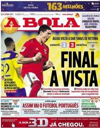 capa Jornal A Bola de 12 fevereiro 2021