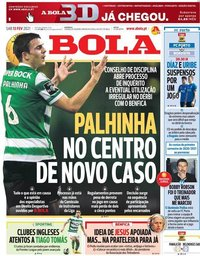 capa Jornal A Bola de 13 fevereiro 2021