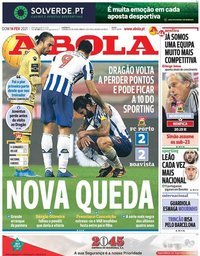 capa Jornal A Bola de 14 fevereiro 2021