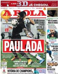 capa Jornal A Bola de 15 fevereiro 2021