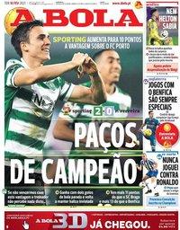 capa Jornal A Bola de 16 fevereiro 2021
