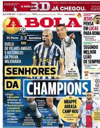 capa Jornal A Bola de 17 fevereiro 2021