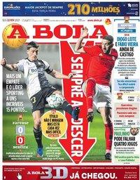 capa Jornal A Bola de 22 fevereiro 2021