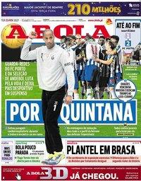 capa Jornal A Bola de 23 fevereiro 2021