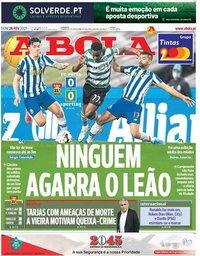 capa Jornal A Bola de 28 fevereiro 2021