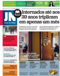 capa Jornal de Notícias de 3 fevereiro 2021