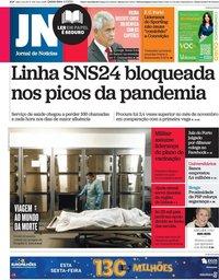 capa Jornal de Notícias de 4 fevereiro 2021