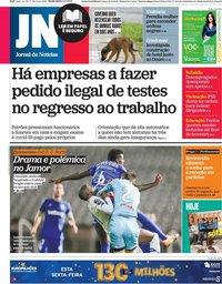 capa Jornal de Notícias de 5 fevereiro 2021