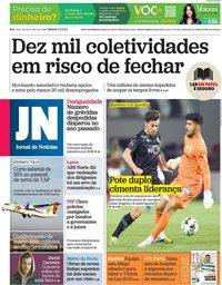 capa Jornal de Notícias de 6 fevereiro 2021