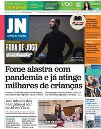 capa Jornal de Notícias de 7 fevereiro 2021