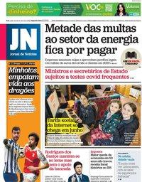 capa Jornal de Notícias de 8 fevereiro 2021