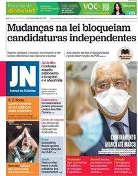 capa Jornal de Notícias de 10 fevereiro 2021