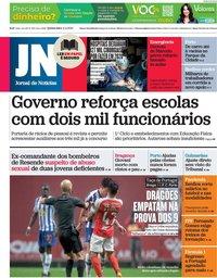 capa Jornal de Notícias de 11 fevereiro 2021