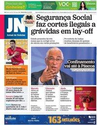 capa Jornal de Notícias de 12 fevereiro 2021