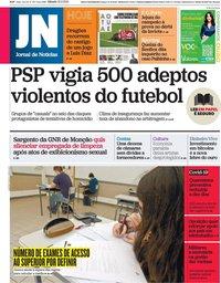capa Jornal de Notícias de 13 fevereiro 2021