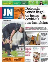 capa Jornal de Notícias de 15 fevereiro 2021