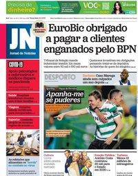 capa Jornal de Notícias de 16 fevereiro 2021
