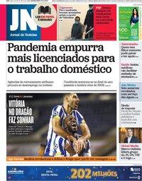 capa Jornal de Notícias de 18 fevereiro 2021