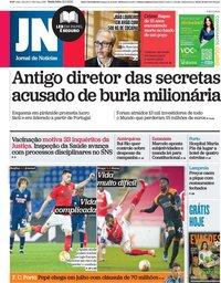 capa Jornal de Notícias de 19 fevereiro 2021